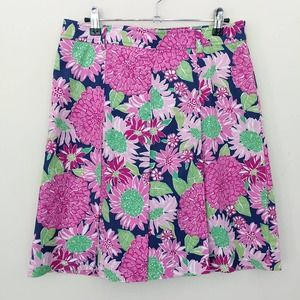 New Lilly Pulitzer Vintage Floral Pleated Skirt